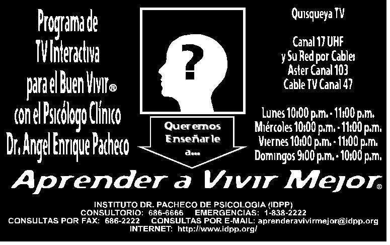 Learn to Live Better ® in Quisqueya TV - Flyer (Spanish)