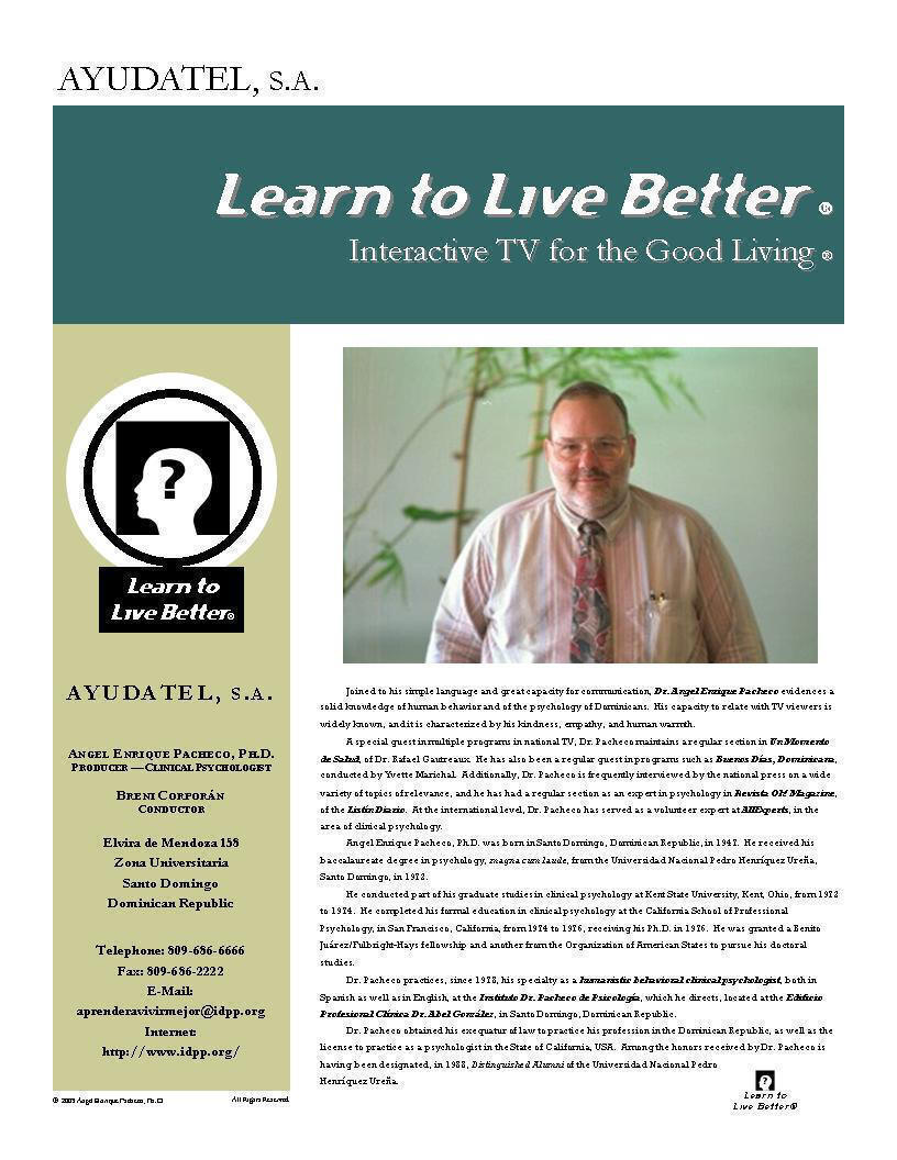 Learn to Live Better ® - TV Program (English), P. 2
